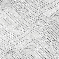 Nami, a natural stone hand cut mosaic shown in Carrara and honed Bardiglio, is part of the Silk Road Collection by Sara Baldwin for New Ravenna Mosaics. <br />