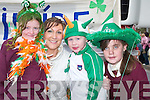HATS: Lathaoise Walmsley, Joanne Walmsley, Aaron Ferris and Aoife Nolan were at the Castleisland St Patricks Day Parade on Saturday..