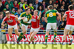 David Moran Kerry in action against Ian Maguire Cork in the National Football league in Austin Stack Park, Tralee on Sunday.
