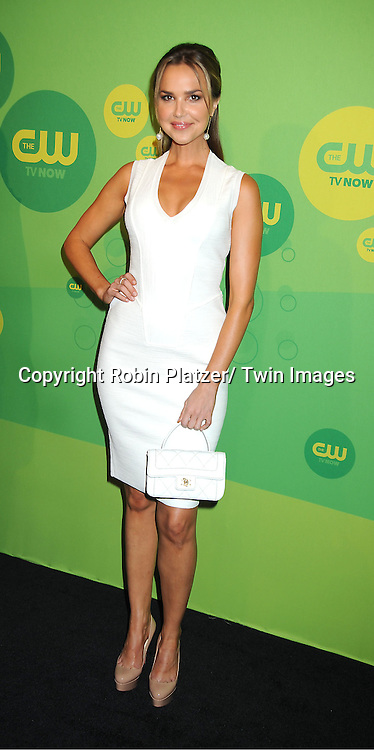 "Arielle Kebbel of ""Perfect Score"" attends the CW Network's 2013 Upfront Presentation on May 16, 2013 at the London Hotel in New York City."