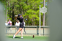 Olivia Mehaffey (NIR) on the 10th tee during the second round of the Augusta National Womans Amateur 2019, Champions Retreat, Augusta, Georgia, USA. 04/04/2019.<br /> Picture Fran Caffrey / Golffile.ie<br /> <br /> All photo usage must carry mandatory copyright credit (&copy; Golffile | Fran Caffrey)