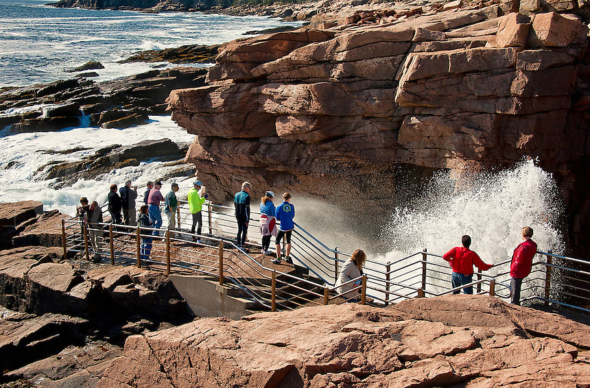 Thunder Hole, Acadia NP, Maine, ME, USA