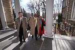 Newly appointed Appellate Court Judge Jerome Tao, left, and Supreme Court Justice Michael Douglas arrive at the inaugural ceremony at the Capitol, in Carson City, Nev., on Monday, Jan. 5, 2015.  <br /> Photo by Cathleen Allison