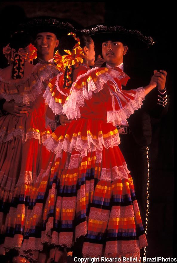 Charro dancing,  Guadalajara, Jalisco State,  Mexico. the charro ( vaquero, ranchero, horseman ). Hispanic traditional dancing.