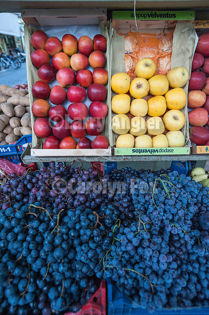 Apples and grapes for sale, Trikala, Greece