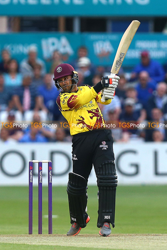Johann Myburgh in batting action for Somerset during Essex Eagles vs Somerset, NatWest T20 Blast Cricket at The Cloudfm County Ground on 13th July 2017