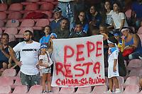 Striscione per Jose Manuel Reina Napoli, banner<br /> Napoli 27-08-2017  Stadio San Paolo <br /> Football Campionato Serie A 2017/2018 <br /> Napoli - Atalanta<br /> Foto Cesare Purini / Insidefoto