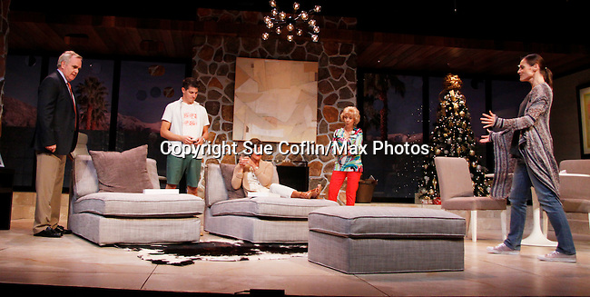 "As The World Turns' Colleen Zenk stars along with the cast - Malachy Cleary, Davy Raphaely, Peggy J. Scott and Brenda Withers in ""Other Desert Cities"" at the tech rehearsal (in costume) on October 14, 2015 at Whippoorwill Halll Theatre, North Castle Library, Kent Place, Armonk, New York.  (Photo by Sue Coflin/Max Photos)"