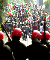 Demonstration in Hernani on 16th September 2000..Photo: Ander Gillenea.