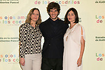 "French Director CECILE TELERMAN (Leftt) and The actors Quim Gutierrez (Center) and EMMANUELLE BEART (Right) attend the photocall at the presentation of the movie ""Los Ojos Amarillos De Los Cocodrilos"" at Santo Mauro Hotel in Madrid, Spain. April 30, 2014. (ALTERPHOTOS/Carlos Dafonte)"