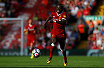 Liverpool's Sadio Mane in action during the premier league match at Anfield Stadium, Liverpool. Picture date 27th August 2017. Picture credit should read: Paul Thomas/Sportimage