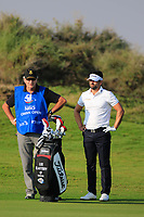 Lee Slattery (ENG) during the first round of the NBO Open played at Al Mouj Golf, Muscat, Sultanate of Oman. <br /> 15/02/2018.<br /> Picture: Golffile   Phil Inglis<br /> <br /> <br /> All photo usage must carry mandatory copyright credit (&copy; Golffile   Phil Inglis)