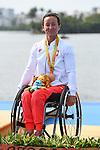 Kamila Kubas (POL), <br /> SEPTEMBER 15, 2016 - Canoe : <br /> Women's Canoe Sprint KL1 Medal Ceremony <br /> at Lagoa Stadium<br /> during the Rio 2016 Paralympic Games in Rio de Janeiro, Brazil.<br /> (Photo by AFLO SPORT)