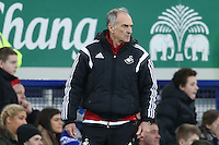 Swansea City Head Coach Francesco Guidolin looks on during the Barclays Premier League match between Everton and Swansea City played at Goodison Park, Liverpool