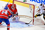 14 December 2009: Montreal Canadiens' goaltender Jaroslav Halak gives up a third period game winning goal to Buffalo Sabres left wing forward Clarke MacArthur at the Bell Centre in Montreal, Quebec, Canada. The Sabres defeated the Canadiens 4-3. Mandatory Credit: Ed Wolfstein Photo