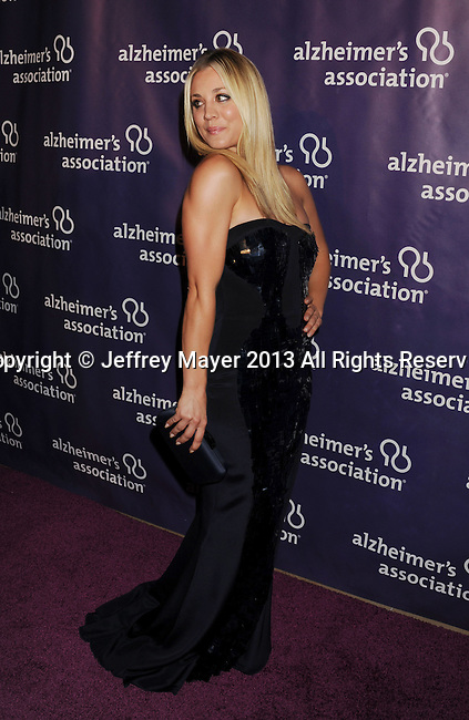 BEVERLY HILLS, CA - MARCH 20: Kaley Cuoco arrives at the 21st Annual 'A Night At Sardi's' to benefit the Alzheimer's Association at The Beverly Hilton Hotel on March 20, 2013 in Beverly Hills, California.