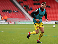 Fleetwood Town's Harrison Biggins during the pre-match warm-up <br /> <br /> Photographer David Shipman/CameraSport<br /> <br /> The EFL Sky Bet League One - Doncaster Rovers v Fleetwood Town - Saturday 6th October 2018 - Keepmoat Stadium - Doncaster<br /> <br /> World Copyright © 2018 CameraSport. All rights reserved. 43 Linden Ave. Countesthorpe. Leicester. England. LE8 5PG - Tel: +44 (0) 116 277 4147 - admin@camerasport.com - www.camerasport.com