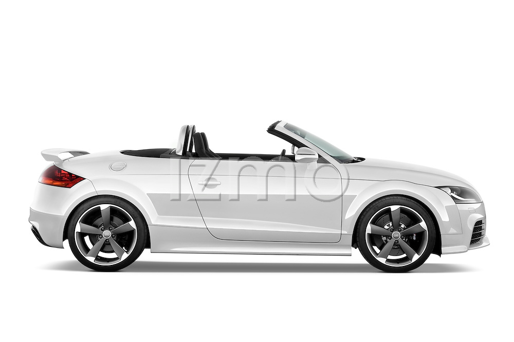 Passenger side profile view of a 2010 - 2014 Audi TT RS Convertible.