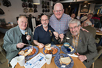 Tucking in... from left are Steve Gardener, RAF, of Cotgrave, Dave Thomas, Royal Artillery, of Bestwood Village, event organiser Richard Montgomery, Royal Anglican, of Bingham and Roger Allton, RAF Seletar, of Radcliffe