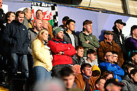 SWANSEA, WALES - FEBRUARY 17: Fans of Swansea City in action during the FA Cup Fifth Round match between Swansea City and Brentford at the Liberty Stadium on February 17, 2019 in Swansea, Wales. (Photo by Athena Pictures/Getty Images)