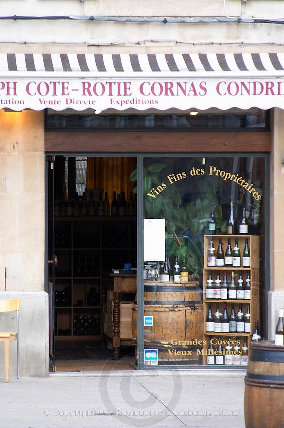 wine shop tain l hermitage rhone france
