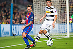 FC Barcelona's Paco Alcacer, VfL Borussia Monchengladbach's Jannik Vestergaard  during Champions League match between Futbol Club Barcelona and VfL Borussia Mönchengladbach  at Camp Nou Stadium in Barcelona , Spain. December 06, 2016. (ALTERPHOTOS/Rodrigo Jimenez)