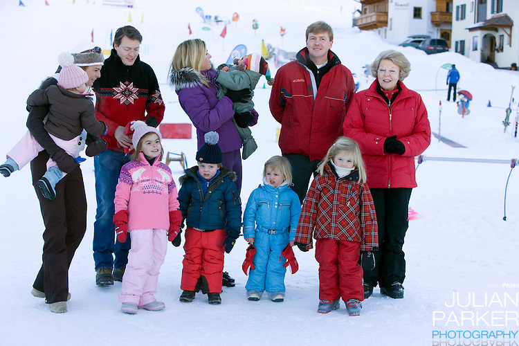 Members of The Dutch Royal Family attend a Photocall during their Winter Ski Holiday in Lech Austria