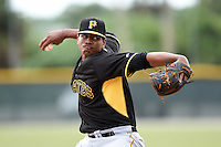 Pittsburgh Pirates pitcher Miguel Ferreras (59) during minor league spring training on March 23, 2015 at Pirate City in Bradenton, Florida.  (Mike Janes/Four Seam Images)