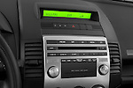 Stereo audio system close up detail view of a 2008 Mazda 5
