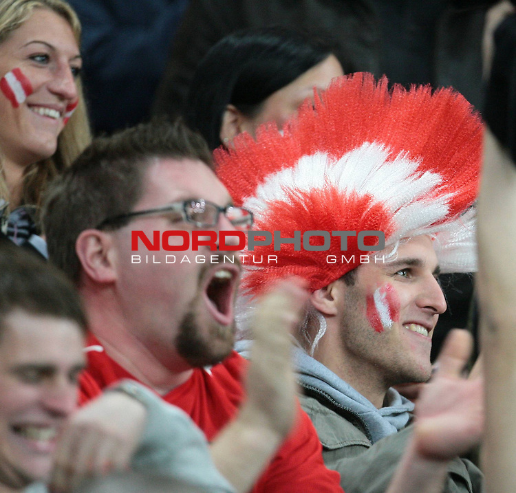WM Qualifikation 2010, Europa, Gruppe 7, Österreich vs Rumänien, Wörthersee Arena Klagenfurt, Austria, im Bild Fan; ,                                                                                                   Foto:   nph ( nordphoto ) / J. Groder