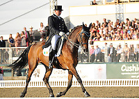 16.05.2014.  Windsor Horse Show London, Dane Rawlings (IRL) riding Sydney during the CD13* FEI Grand Prix Freestyle to music