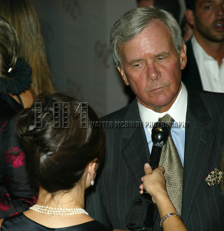 TOM BROKAW.( Being Interviewed by the Press / Media ).GQ Magazine Celebrates it's 45th Anniversary..Party at the GQ Lounge At Pressure, University Place in New York City..September 4, 2002.Credit All Uses.© Walter McBride / , USA