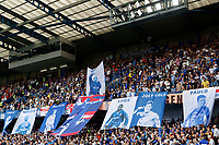 Chelsea fans present a mural of ex-players now staff during the Premier League match between Chelsea and Sheff United at Stamford Bridge, London, England on 31 August 2019. Photo by Carlton Myrie / PRiME Media Images.
