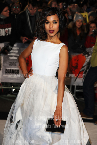 "Kerry Washington arriving for the ""Django Unchained"" premiere, Empire Leicester Square, London. 10/01/2013 Picture by: Steve Vas / Featureflash"