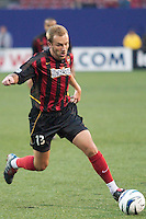 Clint Mathis of the MetroStars during first half action. Mathis tied a team record with a goal in his 4th straight game. The Dallas Burn were defeated by the NY/NJ MetroStars 2-1 on 5/24/03 at Giant's Stadium, East Rutherford, NJ.