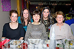 Staff from McCarthy Insurance Cahersiveen on their Christmas party night out pictured here in The Ring of Kerry Hotel l-r; Breda Clifford, Lorraine Garvey, Mary Moran, Ciara Curran & Breda Murphy.