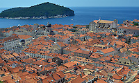 Michael McCollum.6/13/11.The old city of Dubrovnik, Croatia. the Old Town and its many sights (including the well-preserved city walls along which you can walk) is the main sight of Dubrovnik.
