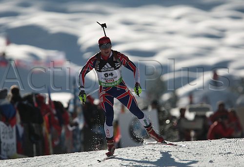09/12/2011, Hochfilzen, Austria. JACKSON Lee-Steve (GBR) in action during the sprint race of the Biathlon World Cup. Men's Sprint race.