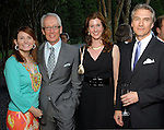 From left: Ann and Don Short with Phoebe Tudor and Sanford Criner at the Art in the Park benefit at the home of Becca and John Thrash Wednesday May 20,2009.(Dave Rossman/For the Chronicle)
