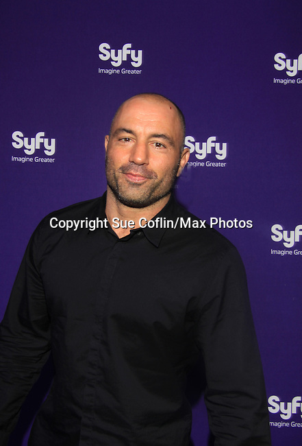 Joe Rogan (Question Everything) at SYFY 2013 Upfront Event on April 10, 2013 at Silver Screen Studios, NYC, NY (Photo by Sue Coflin/Max Photos)........... (Photo by Sue Coflin/Max Photos)