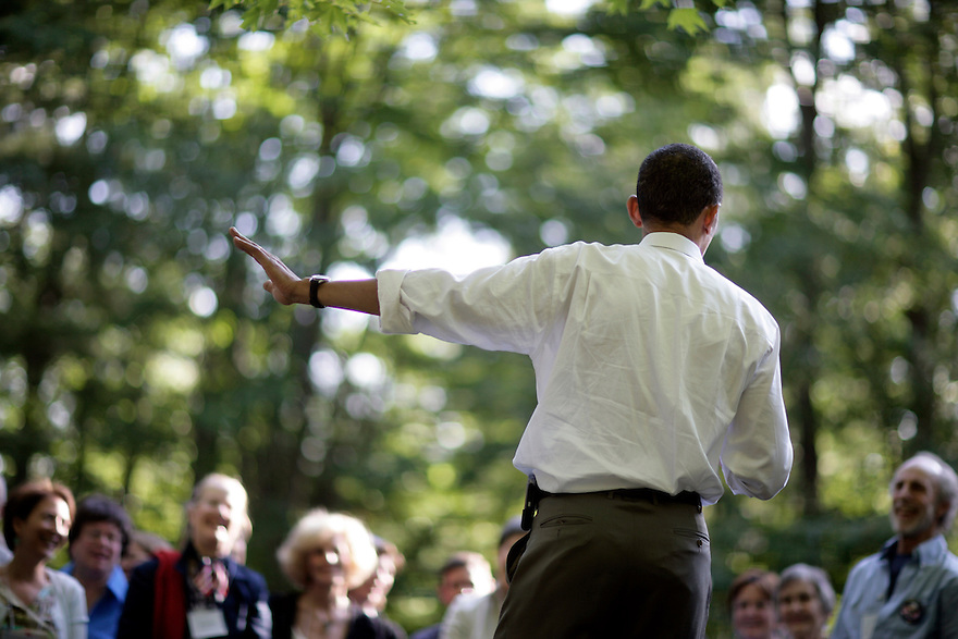 Democratic presidential candidate Senator Barack Obama at a campaign event in Concord, NH, July 2, 2007 ..Photo by Brooks Kraft/Corbis.......
