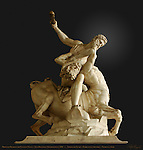 Hercules Beating the Centaur Nessus, Gradient Clip, Jean Boulogne  Giambologna 1599, Loggia dei Lanzi, Florence, Italy