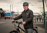 UAA Civil Engineering Alumnus Robert DeVassie, photographed in Spenard. DeVassie is a transportation engineer for the Alaska Department of Transportation & Public Facilities with a passion for active (non-motorized) transportation and sustainability.