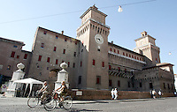 Una veduta del Castello Estense di Ferrara.<br /> An exterior view of the Castello Estense in Ferrara.<br /> UPDATE IMAGES PRESS/Riccardo De Luca