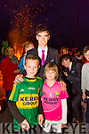 The Home Coming -The kerry Minor Team are Welcomed back to Dingle on Tuesday Pictured are James and Ellie Hoare with cousin  Tom O'Sullivan, Kerry Minor