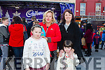 Enjoying the Fun when the Cadbury's Chocolate Truck came to the Square Tralee on Saturday were Maeve Hurley, Caroline Kennedy, Ciara Hurley, Martina Hurley, Farranfore