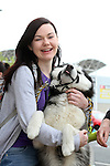 "Maria Duff with Tristan enjoying ""National Dog Walking Day"" at Petmania...(Photo credit should read Jenny Matthews www.newsfile.ie)....This Picture has been sent you under the conditions enclosed by:.Newsfile Ltd..The Studio,.Millmount Abbey,.Drogheda,.Co Meath..Ireland..Tel: +353(0)41-9871240.Fax: +353(0)41-9871260.GSM: +353(0)86-2500958.email: pictures@newsfile.ie.www.newsfile.ie."