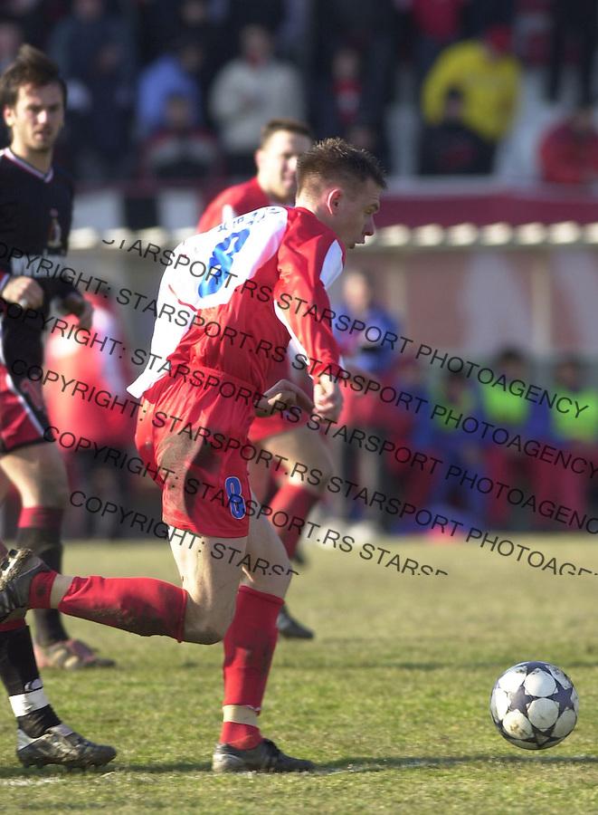SPORT FUDBAL ZELEZNIK LAVOVI VOJVODINA 6.3.2004. Krasic foto: Pedja Milosavljevic<br />