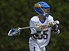 Sean Crotty #35 of Kellenberg makes a pass during the CHSAA varsity boys lacrosse Class AA Intersectional Final against Iona Prep at Kellenberg High School on Friday, May 26, 2017. Kellenberg won by a score of 11-9.