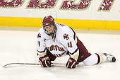 Mike Brennan (BC - 4) - The Boston College Eagles defeated the visiting Northeastern University Huskies 7-1 on Friday, March 9, 2007, to win their Hockey East quarterfinals matchup in two games at Conte Forum in Chestnut Hill, Massachusetts.